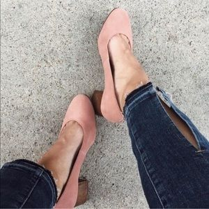 Madewell Ella Dusty Clay Suede Leather Pumps 8.5